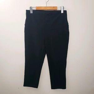 Thyme Crop Maternity Black Leggings Size M